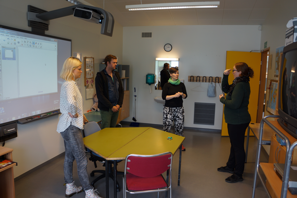 Well equipped classroom at Hlíðarskóli